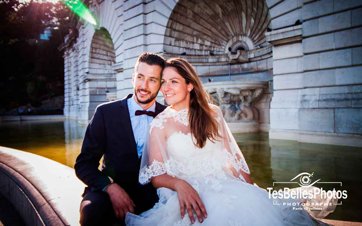 Photo couple mariage Paris shooting Day After